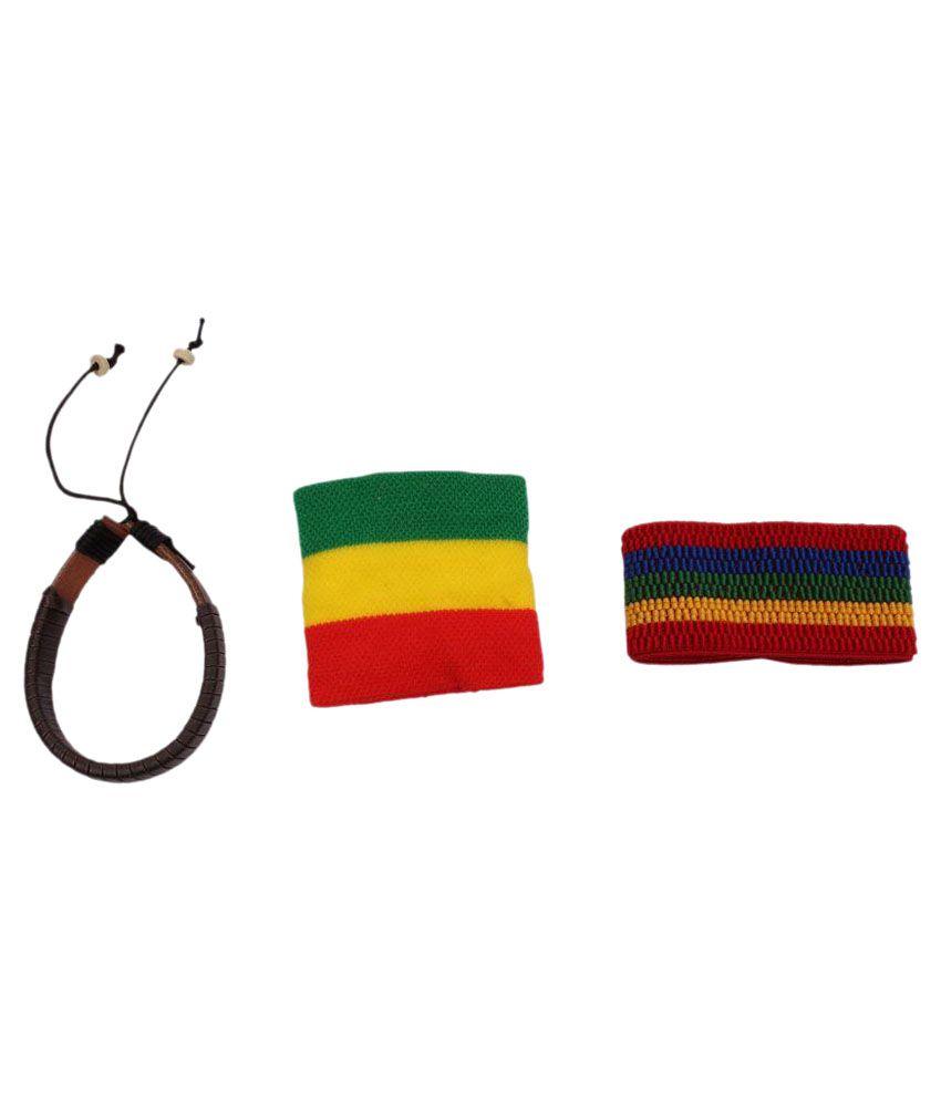 Sushito Multicolour Stylish Wrist Band - Set of 3