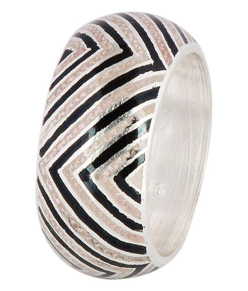 Jewels Of Jaipur 92.5 Sterling Silver Band Ring
