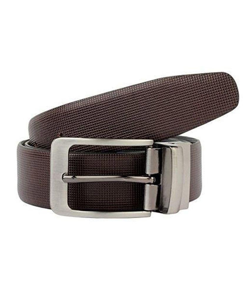 K London Black Leather Belt For Men