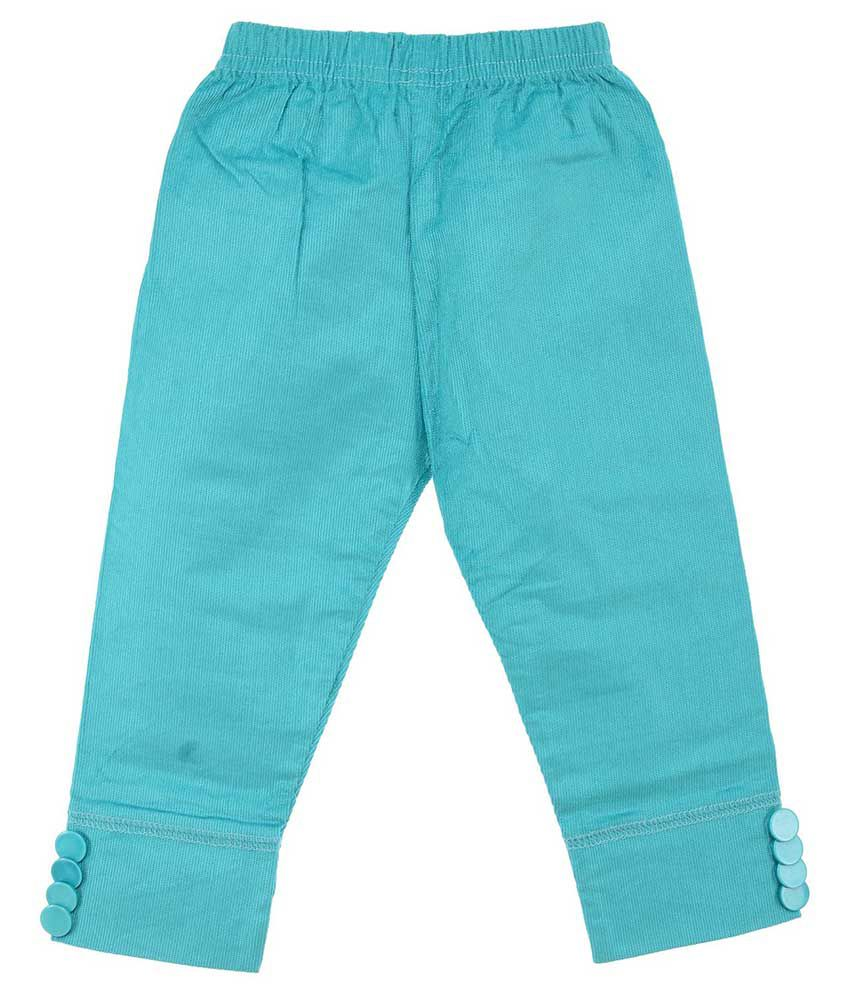 Kkpkidsworld Blue Corduroy Capris For Girls
