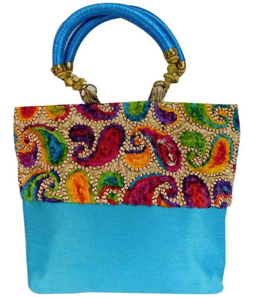 Laviva Blue Synthetic Shoulder Bag