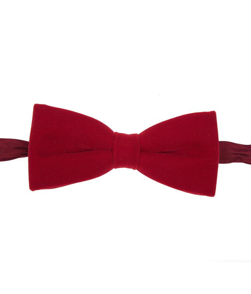 Sir Michele Red Velvet Bow Tie for Men