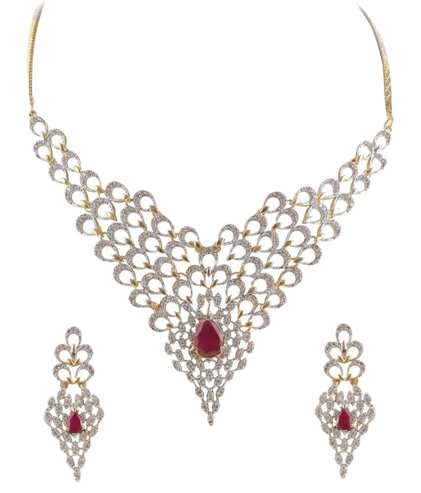 Fasherati Silver Traditional Designer Necklace Set