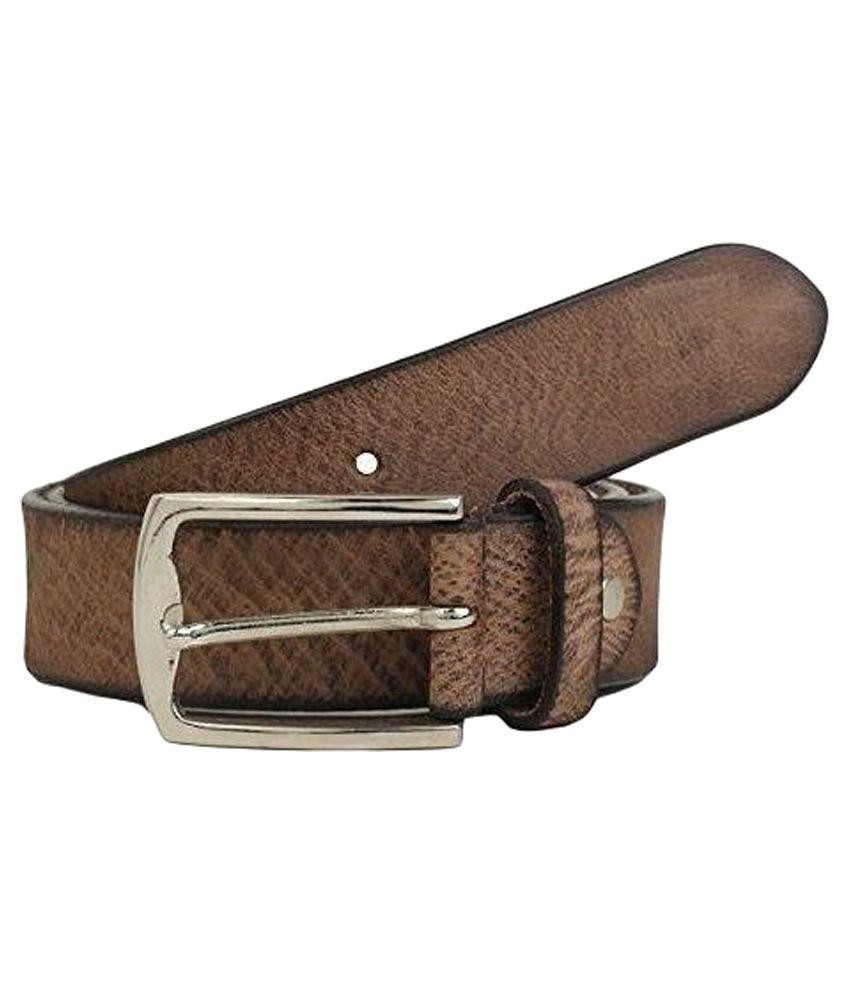 K London Brown Leather Belt For Men
