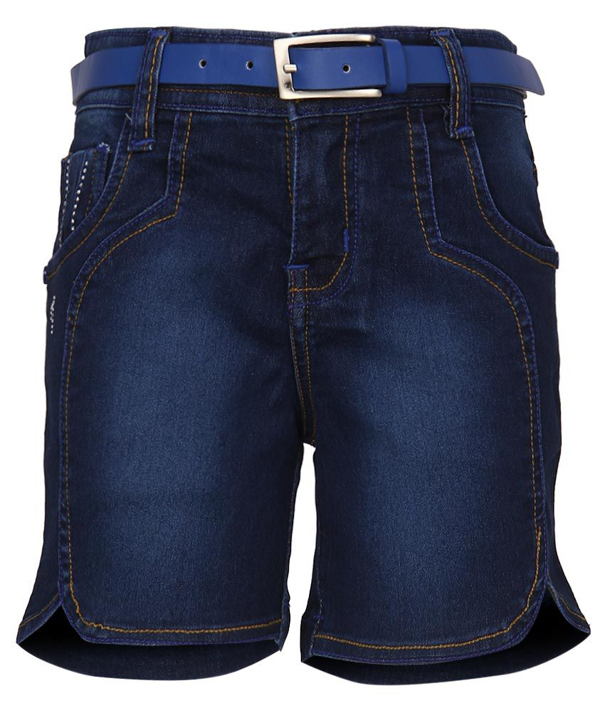 Monte Carlo Blue Regular Fit Denim Shorts