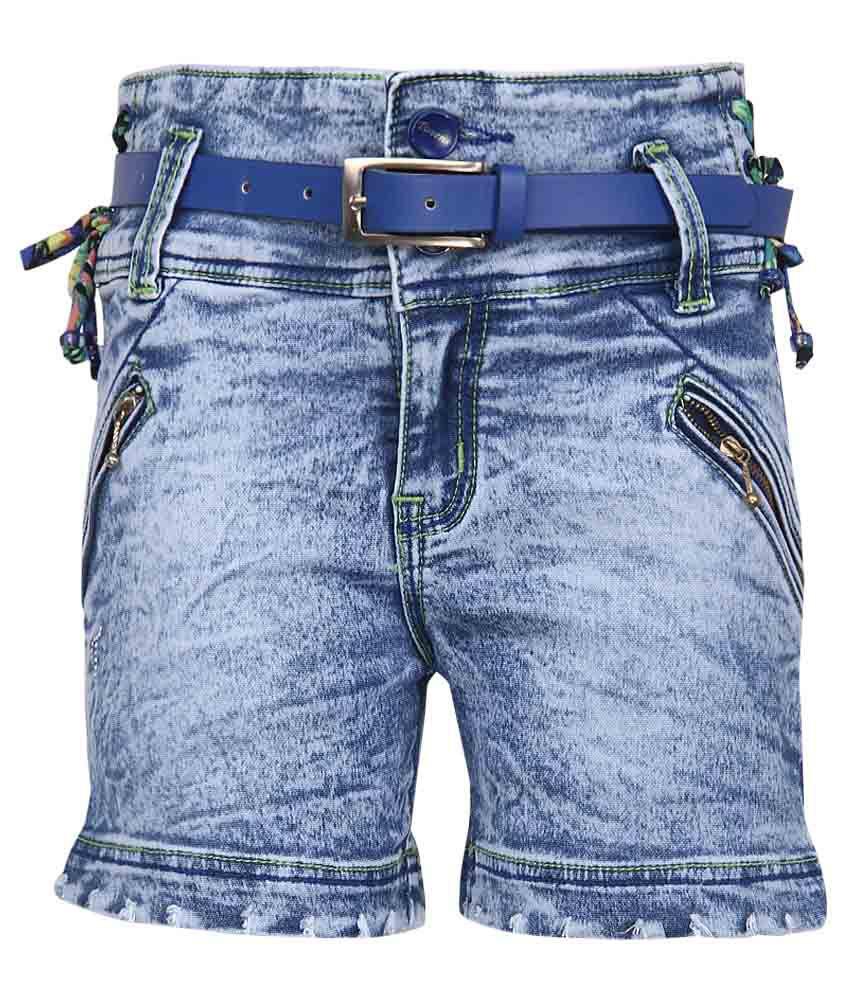 Monte Carlo Blue Regular Fit Denim Shorts