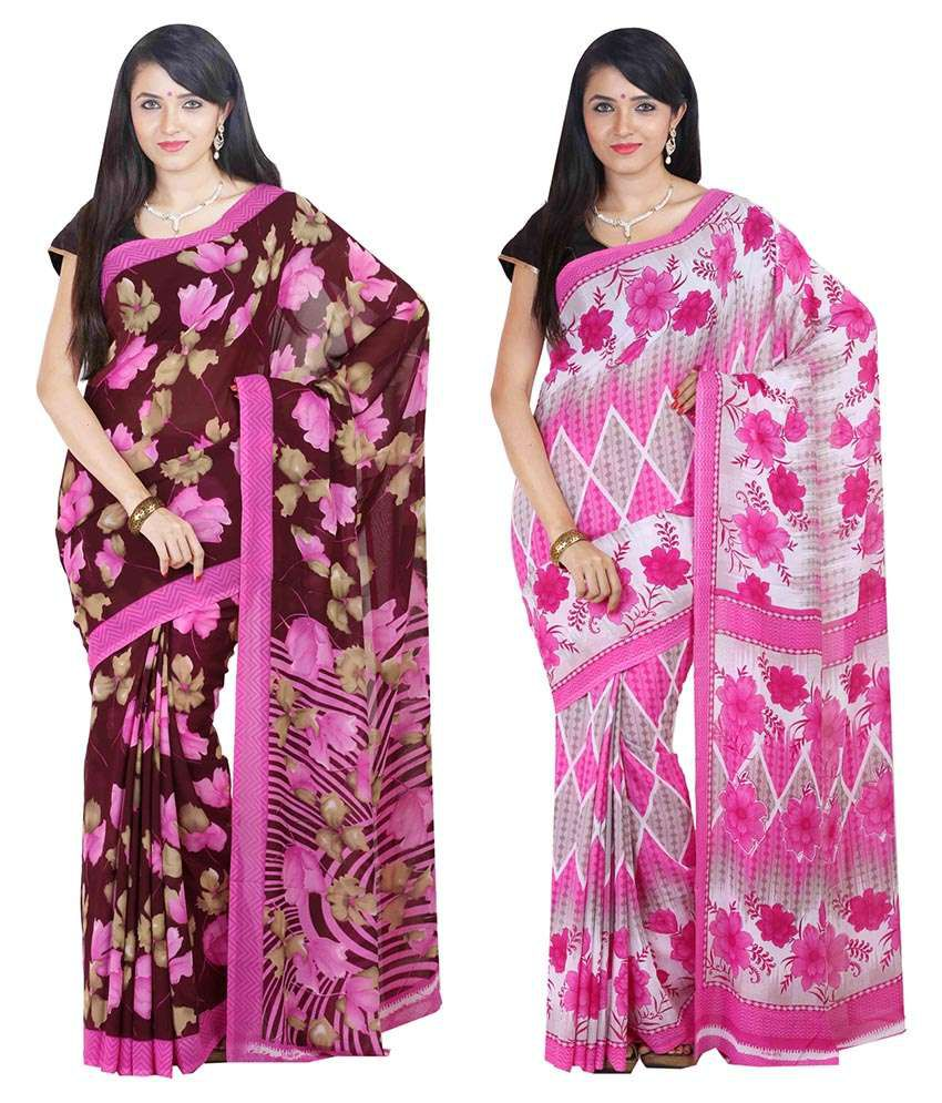 Vaishnav Multi Color Silk Saree