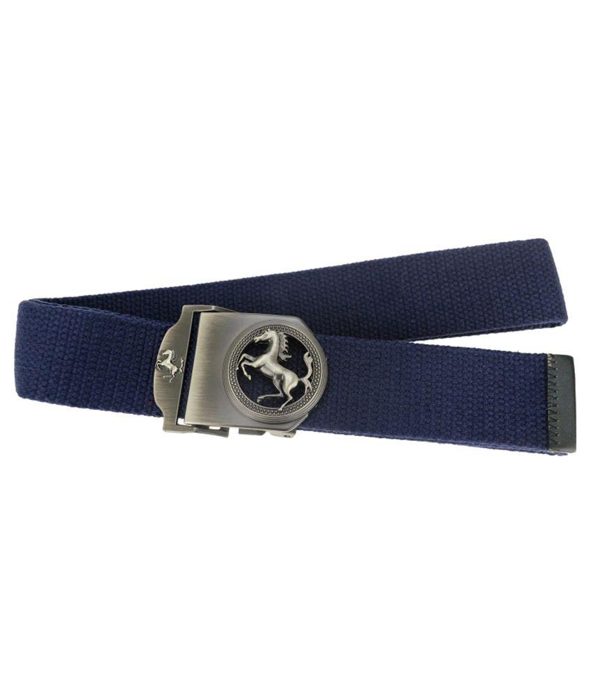 Zeva Blue Canvas Casual Belt for Men