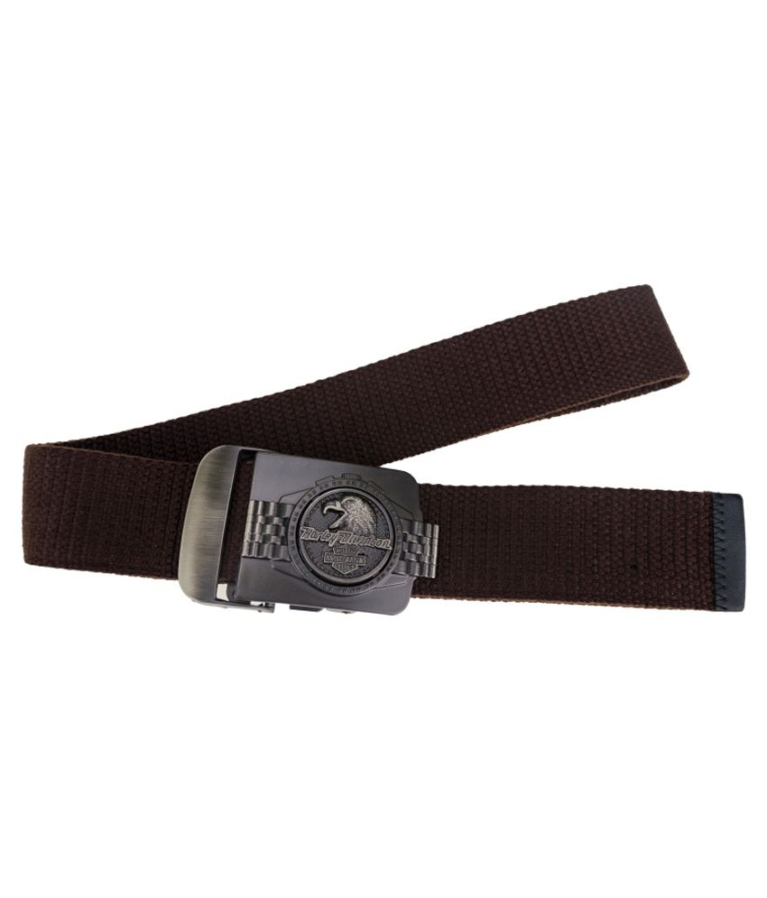 Zeva Brown Canvas Casual Belt for Men