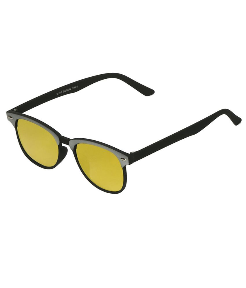 Mango People Golden Wayfarer Sunglasses