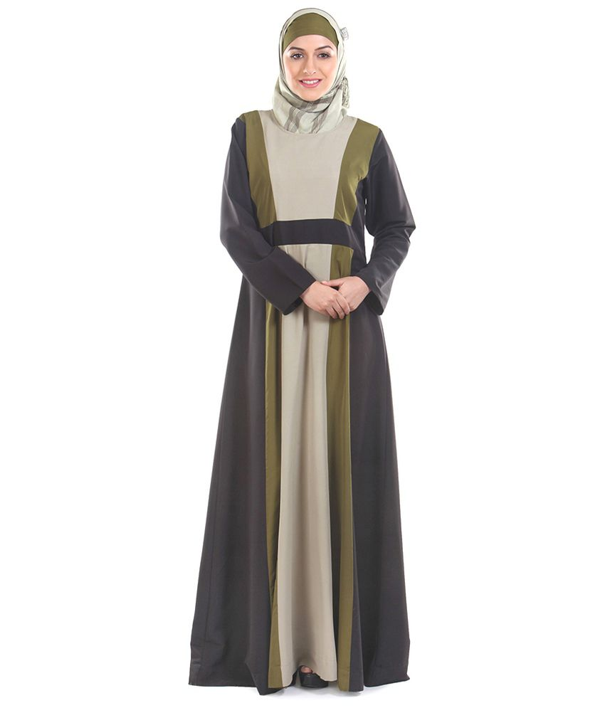 Momin Libas Multi Color Ploycrepe Stitched Burqas-Abaya without Hijab