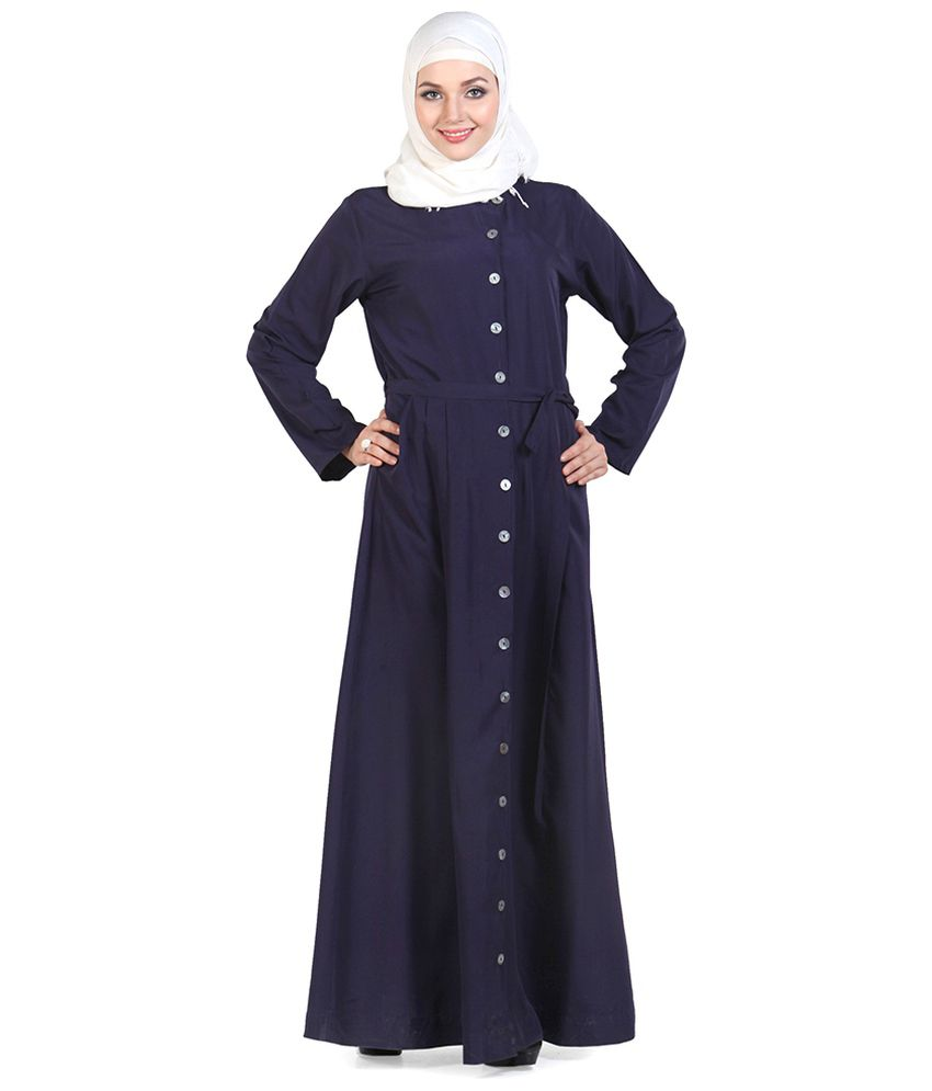 62be1cee84e Momin Libas Navy Ploycrepe Stitched Burqas-Abaya without Hijab Price in  India - Buy Momin Libas Navy Ploycrepe Stitched Burqas-Abaya without Hijab  Online at ...