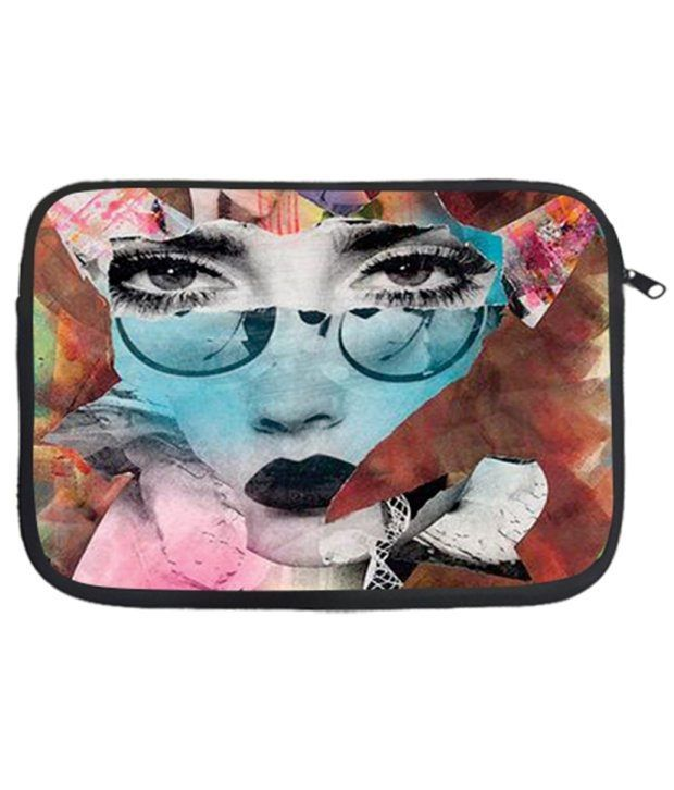 Via Flowers MulticolourPolyester Laptop Sleeve - 38.1 cm