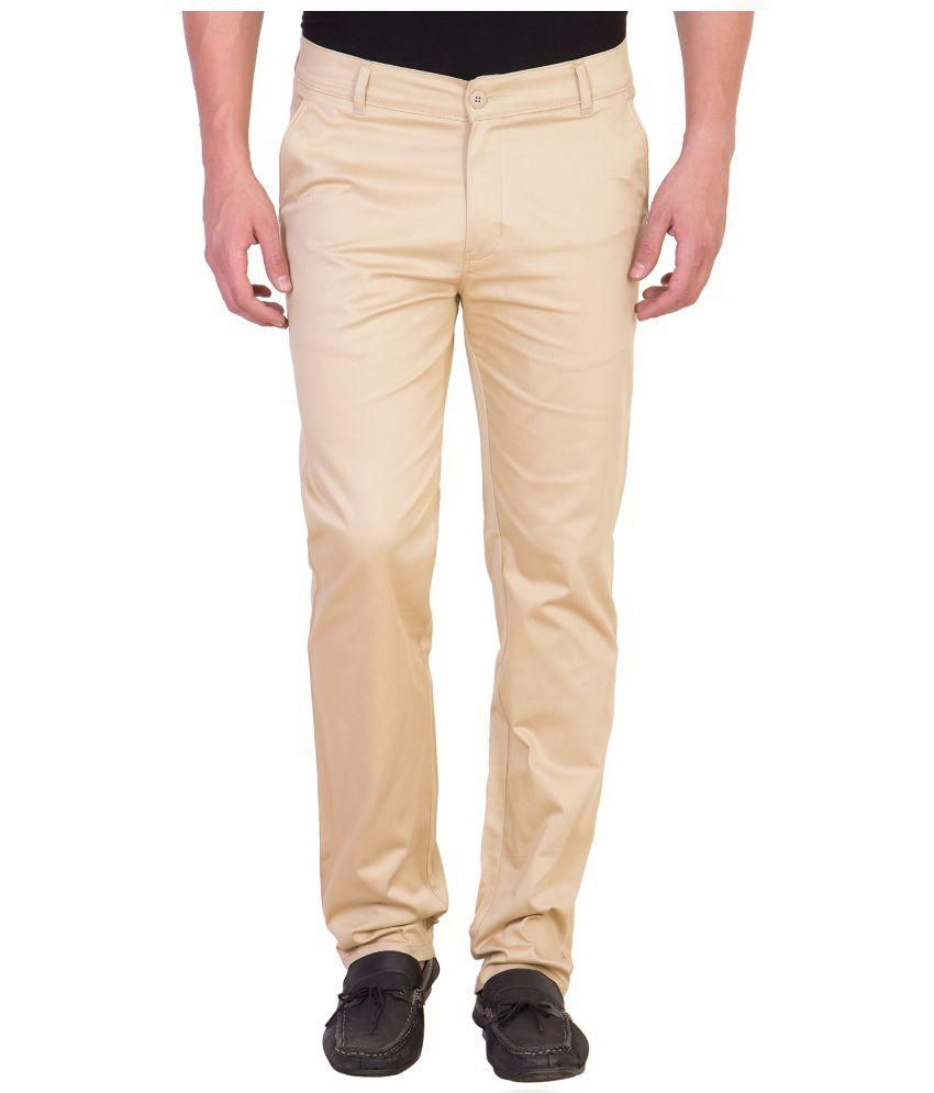 Maciej Beige Slim Fit Chinos