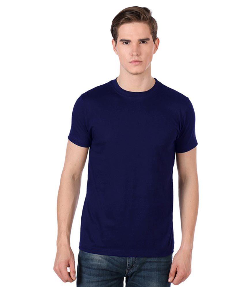 Shree Balaji Blue Round T Shirt