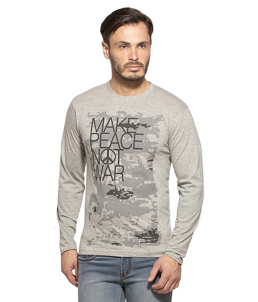 Alan Jones Clothing Grey Round T Shirt