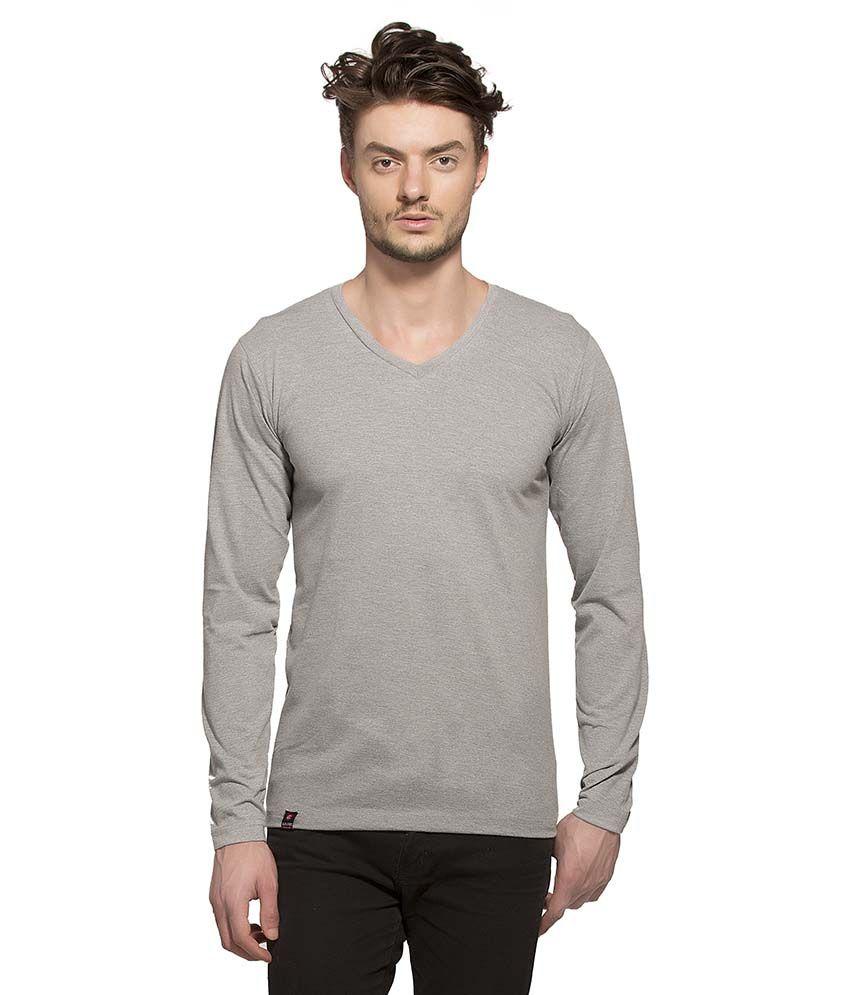 Alan Jones Clothing Grey V-Neck T Shirt