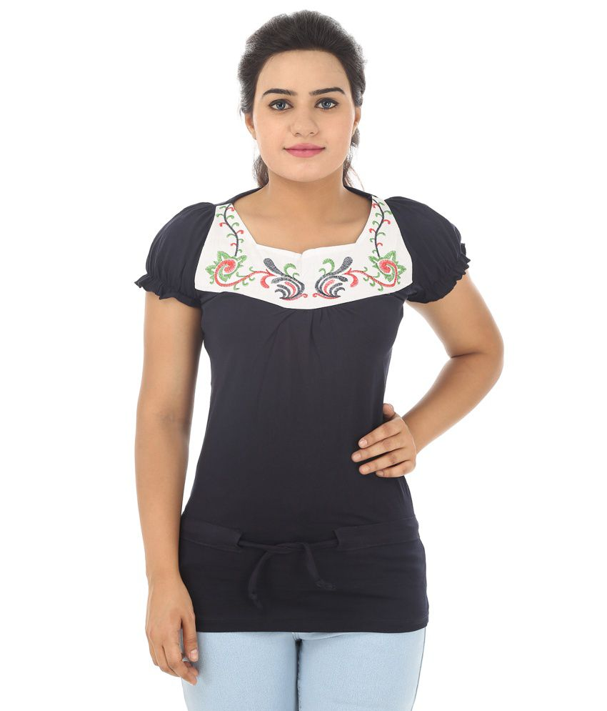 3fa448f519b329 Strak Black Cotton Tops - Buy Strak Black Cotton Tops Online at Best Prices  in India on Snapdeal