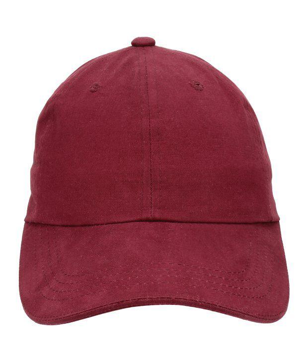 Eccellente Maroon Cotton Tennis Cap
