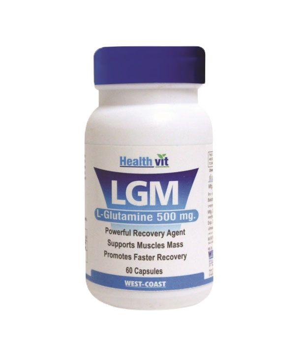 Healthvit LGM L-Glutamine 500 mg 60 Capsules