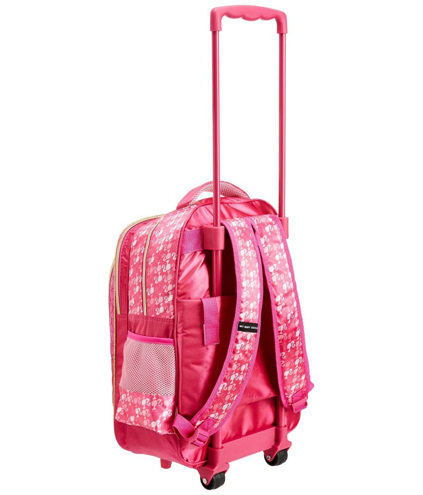 School bag ahmedabad gujarat - Barbie Glitter Glow 18inch Trolley School Bag