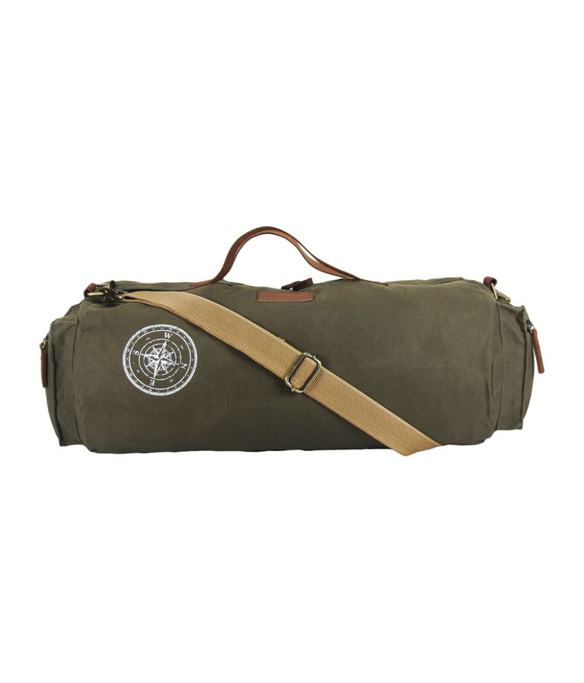 The House of Tara Waxed Canvas / (Olive Green) Gym Bag