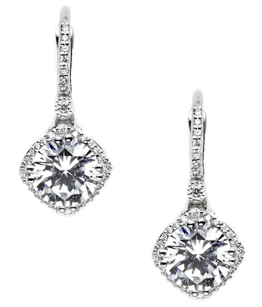5404875ef7918e Ziveg Swarovski 92.5 Sterling Silver Earrings  Buy Ziveg Swarovski 92.5  Sterling Silver Earrings Online in India on Snapdeal