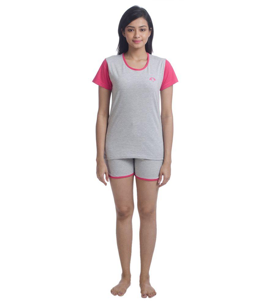 Nite Flite Colour Block Cotton Shorts Set