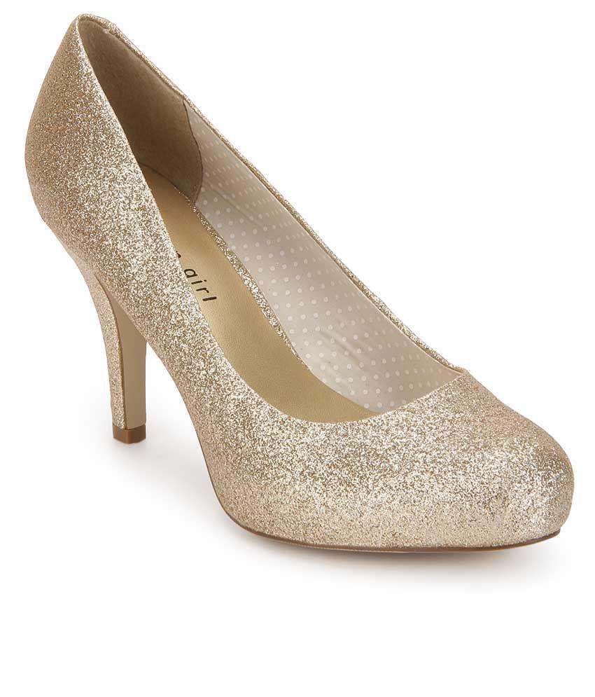 Steve Madden Getta Gold Stiletto Heels