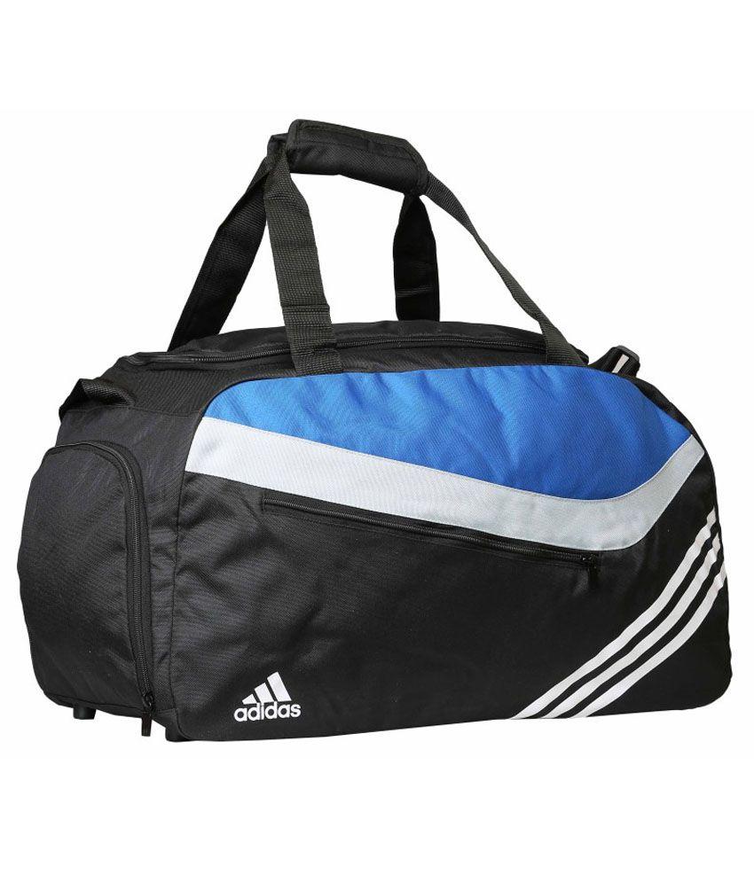 Adidas Black and Blue Polyester Duffle Bag - Buy Adidas Black and ... 96269bb390e44