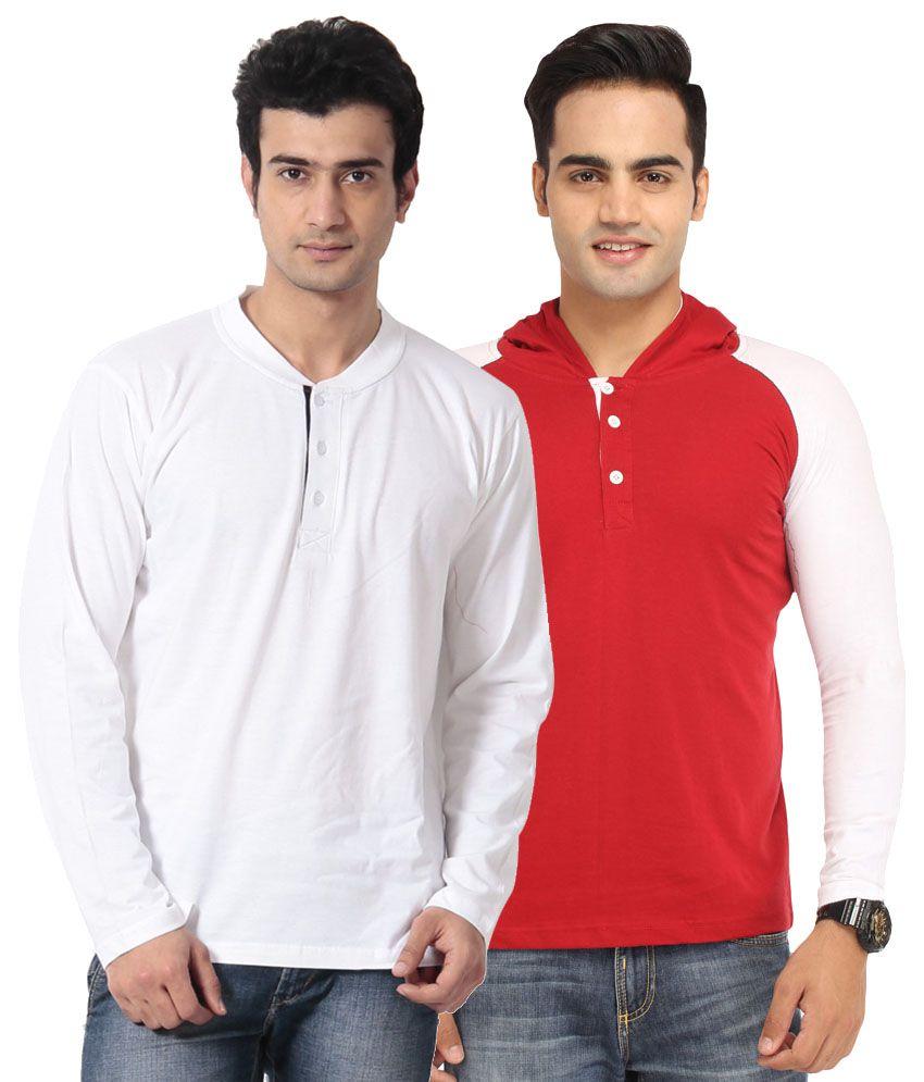 Leana Multi Henley T-Shirt Pack of 2
