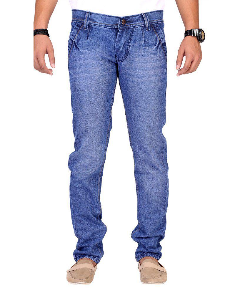 Ansh Fashion Wear Fashion Wear Blue Regular Fit Mid Jeans