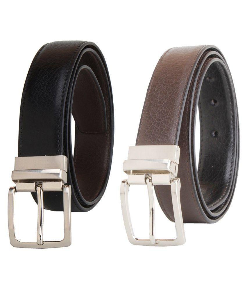 Kesari Black Faux Leather Casual Belts