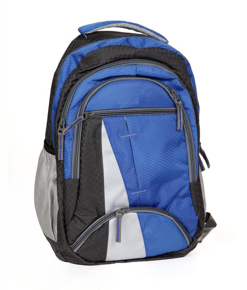 FIPPLE Blue & Black Canvas Laptop Bag For Dell Laptops