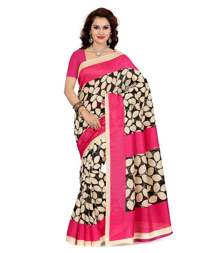 Ishin Multi Color Bhagalpuri Silk Saree