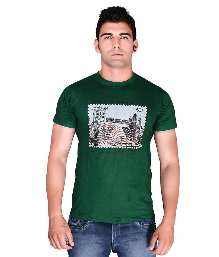 TeeKraft Green Round T Shirts