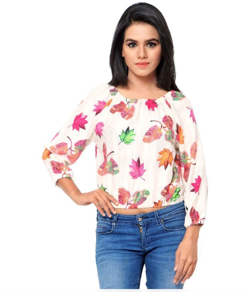 6f7a817095464 Urban Fashion Bank Multi Rayon Crop Top - Buy Urban Fashion Bank Multi  Rayon Crop Top Online at Best Prices in India on Snapdeal