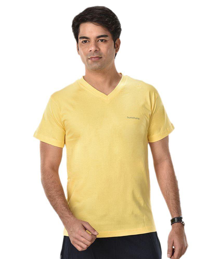 Rupa Yellow V-Neck T Shirts