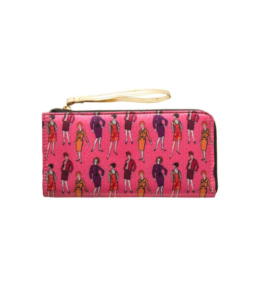 Bandbox Pink P.U Wallet for Women
