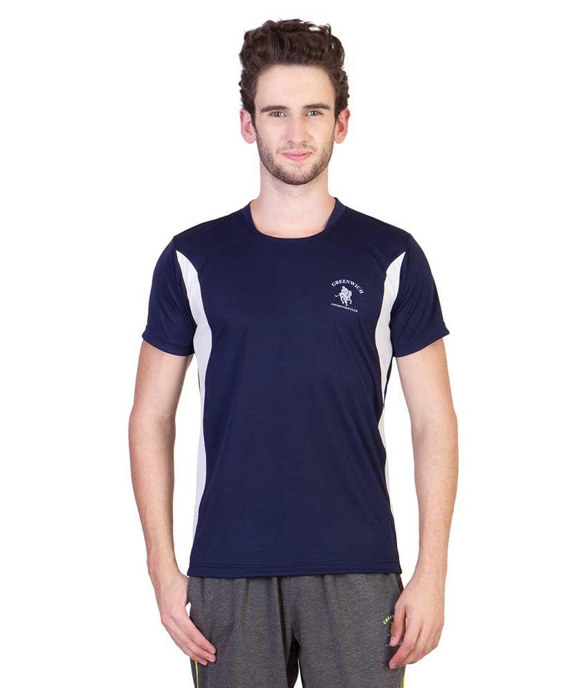 Greenwich United Polo Club Blue Round T Shirts