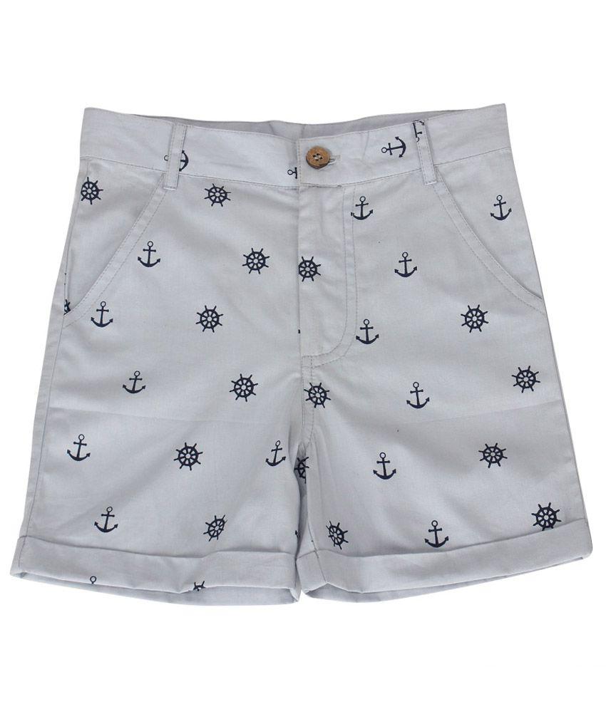 Nino Bambino Gray Cotton Shorts
