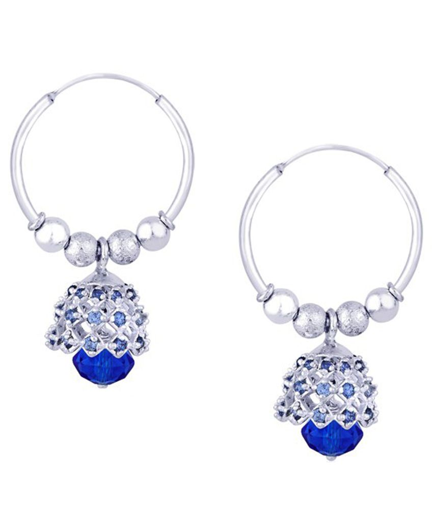 Silver Castle 92.5 Sterling Silver Hanging Earrings with Fashion Bangle