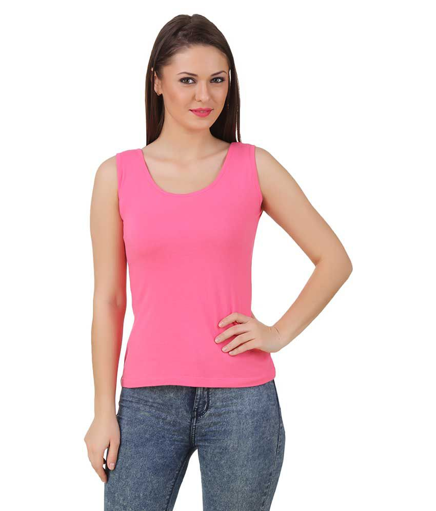 Texco Cotton Blended Tanks - Pink