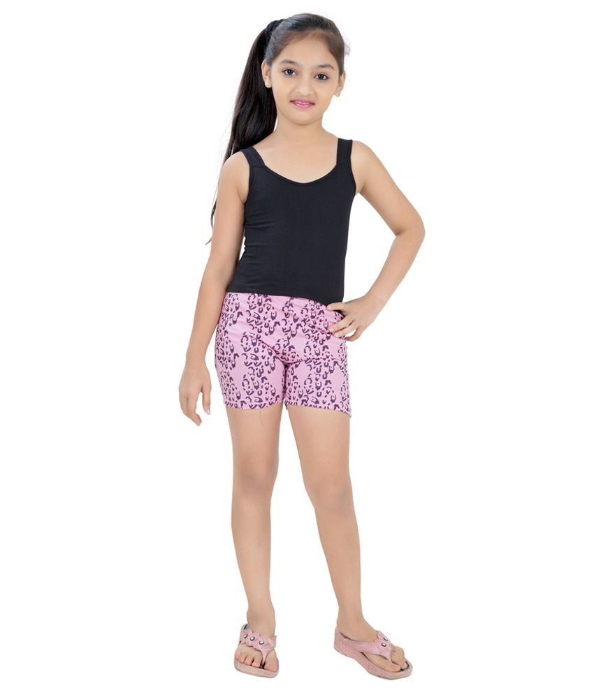 Just4You Pink Shorts For Girls