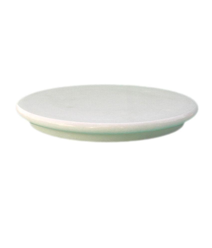 Roshni White Marble Polpat Ring Plate