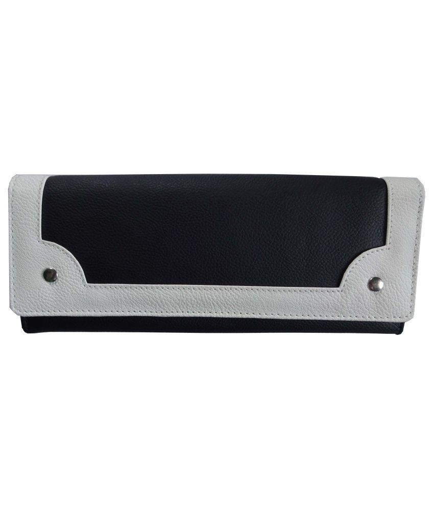 ATV Black P.U Regular Wallet for Women
