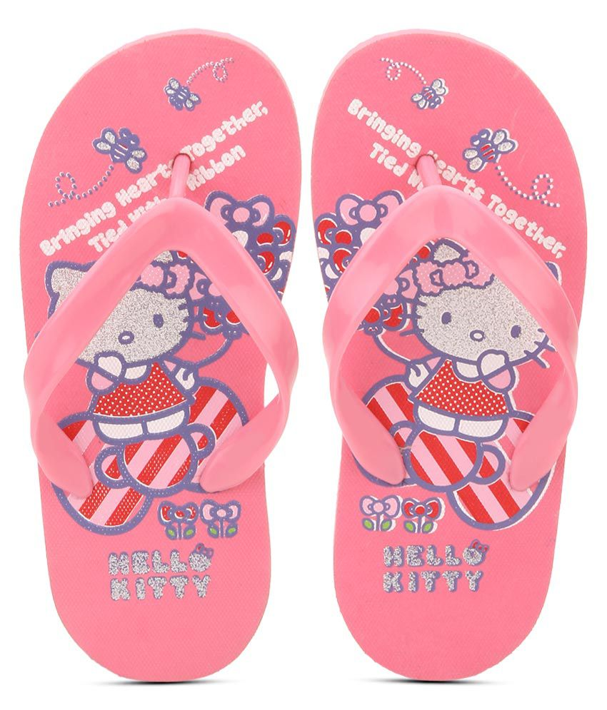 369c8a80291 Hello Kitty Pink Flip Flops For Kids Price in India- Buy Hello Kitty Pink  Flip Flops For Kids Online at Snapdeal