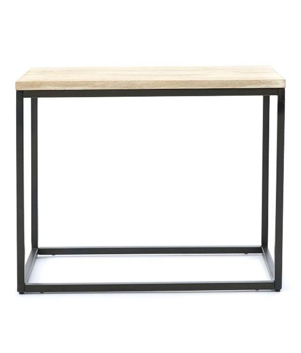 Wooden Mood Modern Vintage Solid Wood Side Table