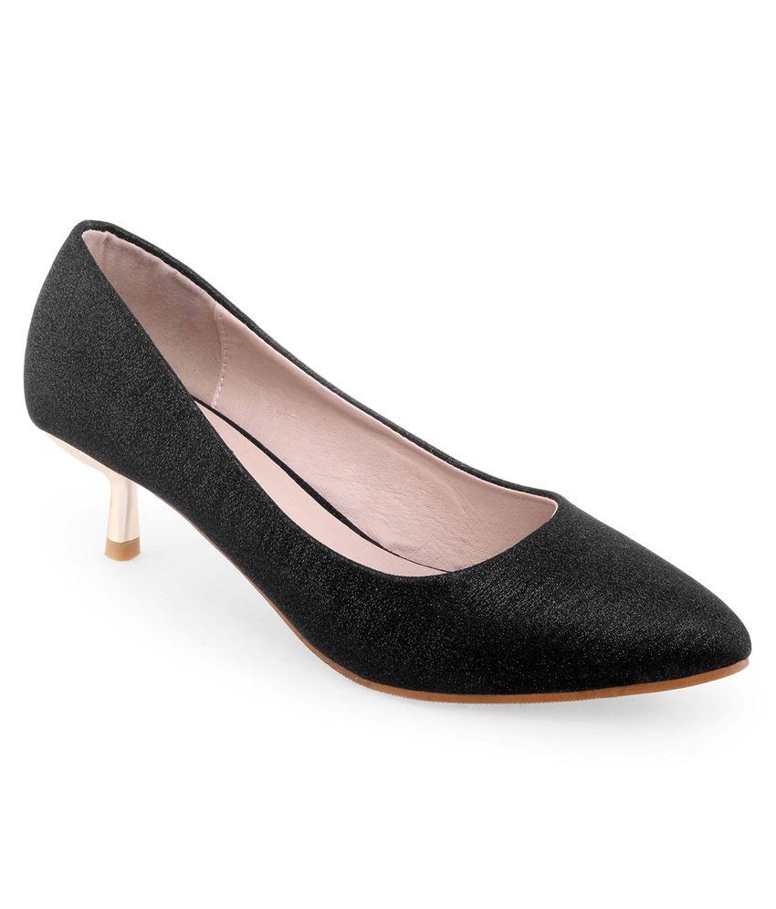 Shuz Touch Black Cone Heels