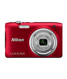 Nikon Coolpix A100 20.1 MP Digital Camera - Red